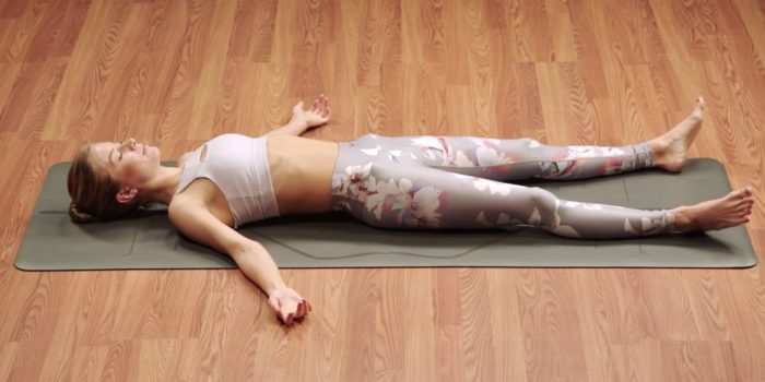 yoga at home - corpse pose