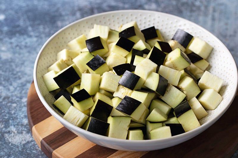 100 Calories of Vegetables - Eggplant