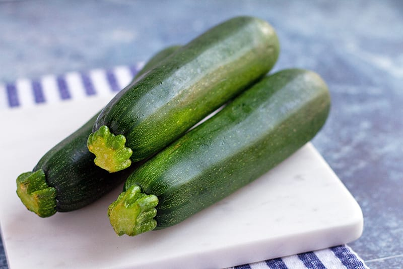 100 calories of vegetables - zucchini