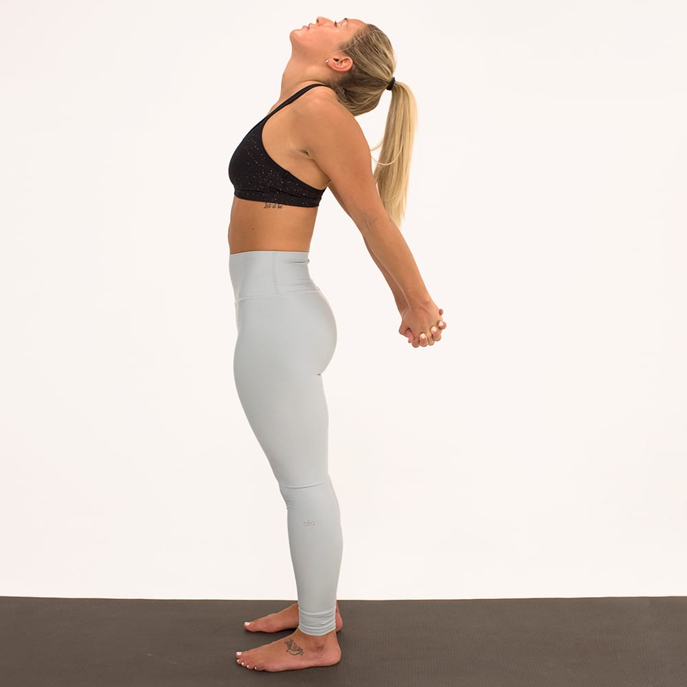 chest opener yoga for recovery woman