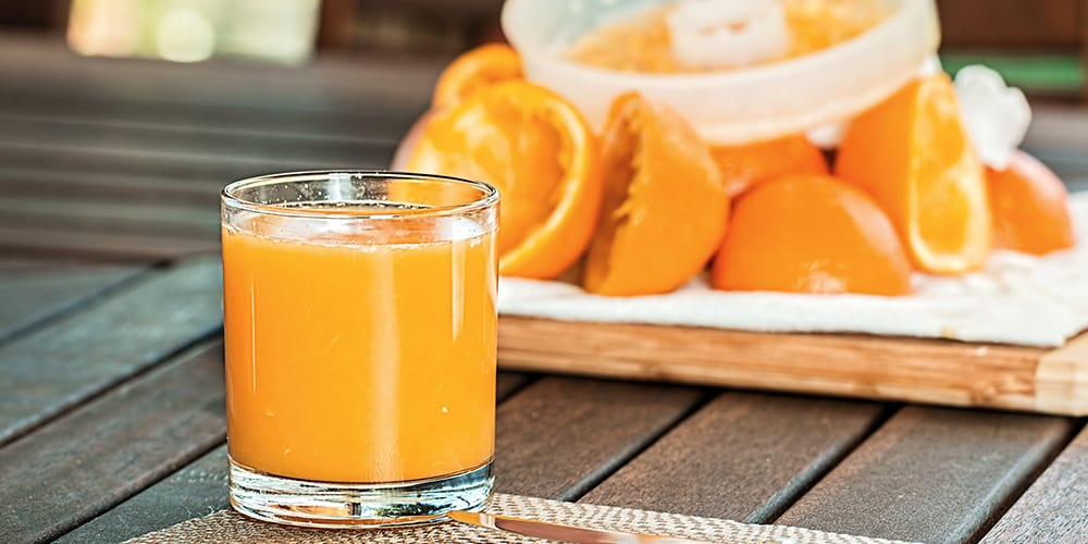 orange juice foods fortified high in calcium