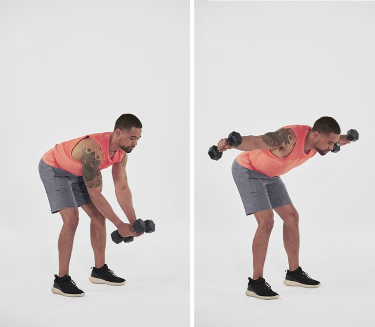 dumbbell reverse fly rear delt exercises