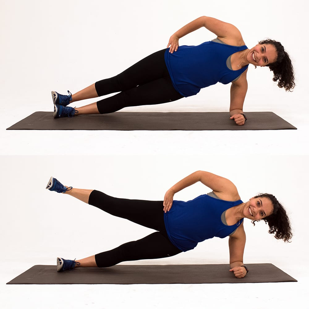 single leg side plank gluteus medius exercises