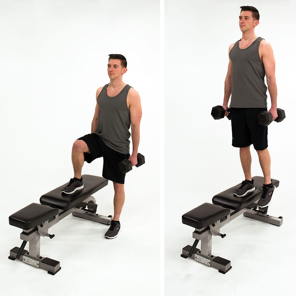 dumbbell lateral step up gluteus medius exercises