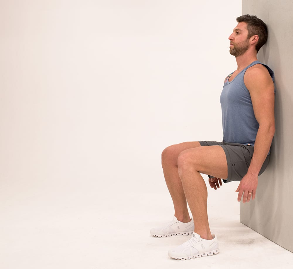 wall sit isometric exercises