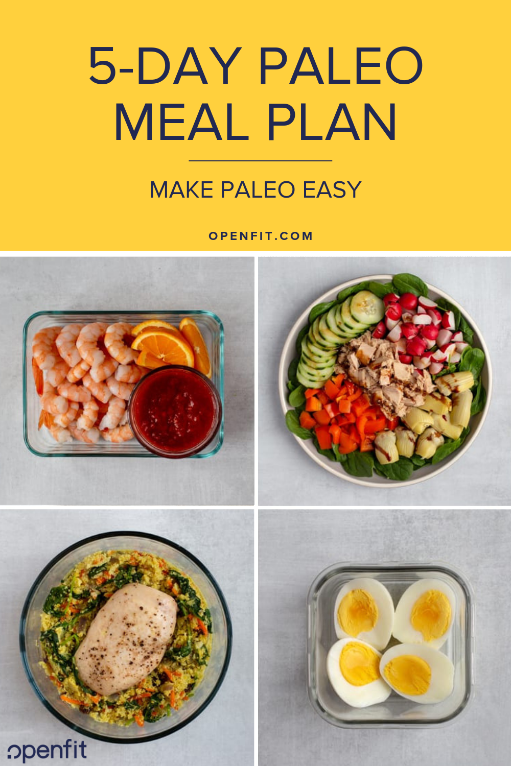Easy Five Day Paleo Meal Plan