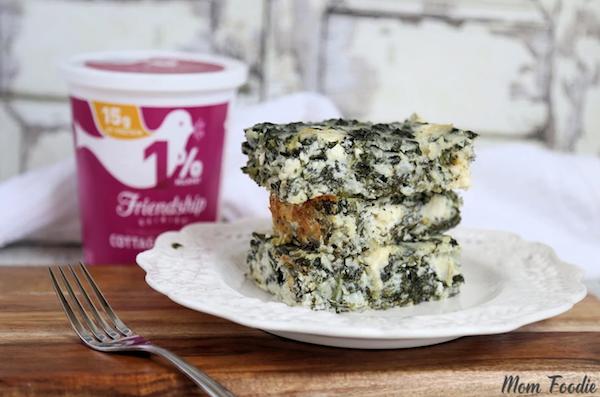 cottage cheese recipes- spanakopita