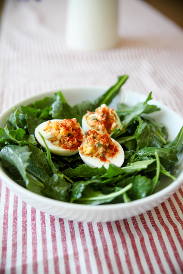 cottage cheese recipes- deviled eggs
