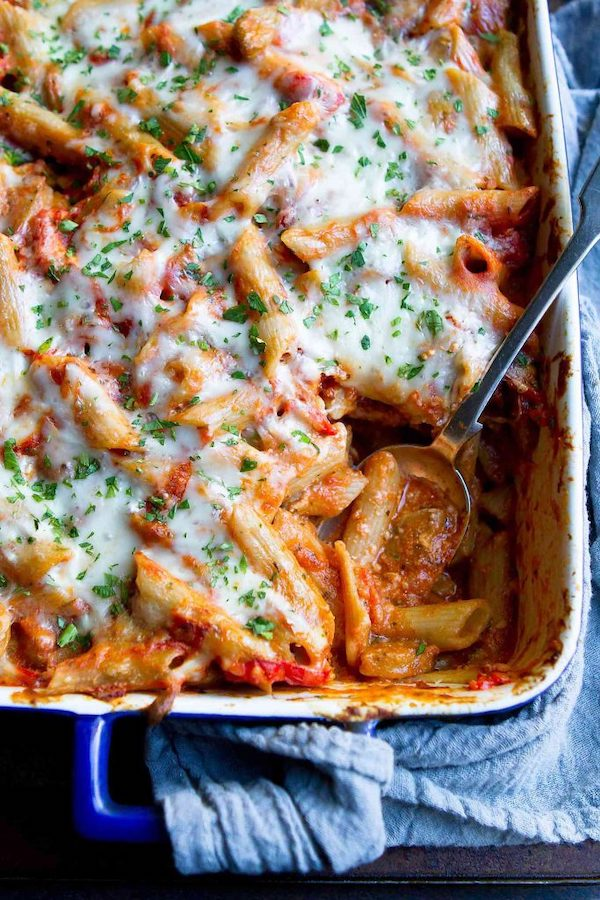 cottage cheese recipes- baked ziti