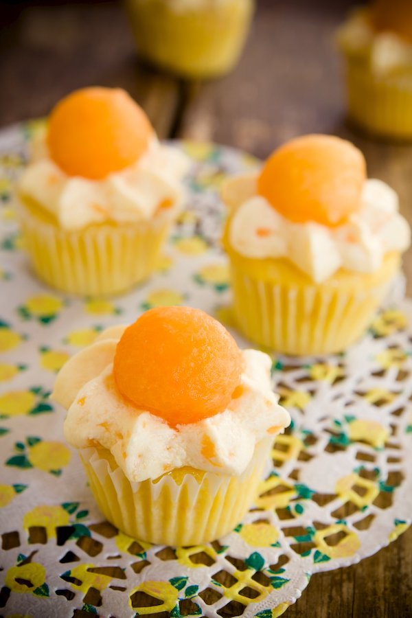 cottage cheese recipes- cantaloupe cupcakes