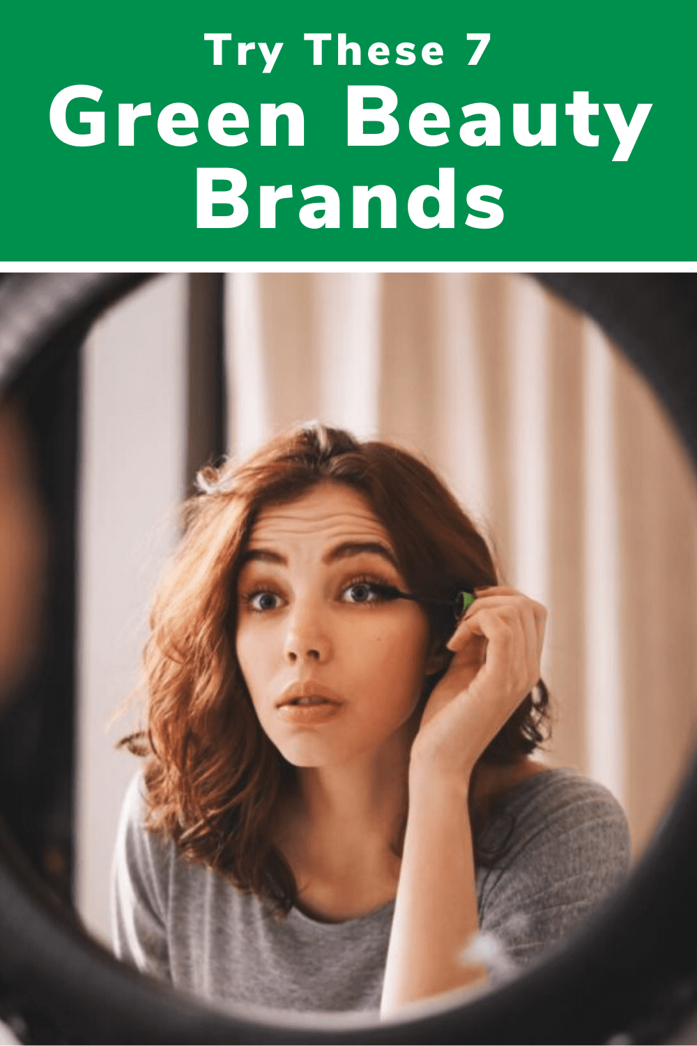 green beauty brands pin image
