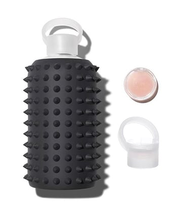 glass water bottle with lip balm