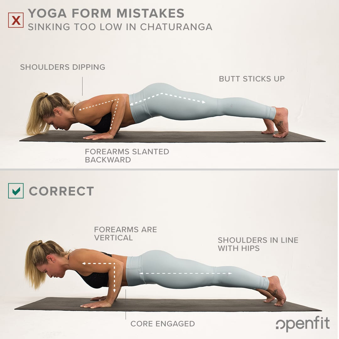 yoga form mistakes chaturanga