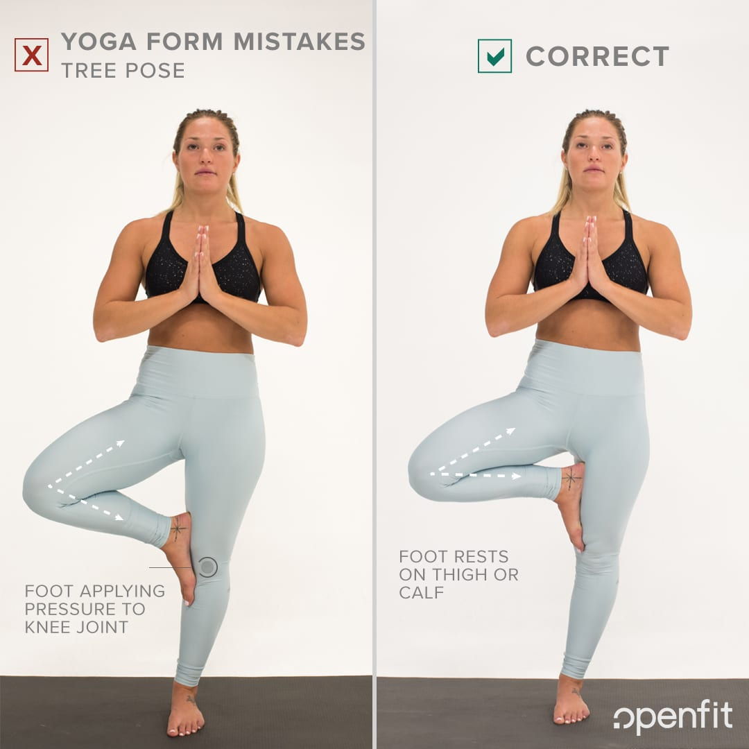 yoga form mistakes tree pose