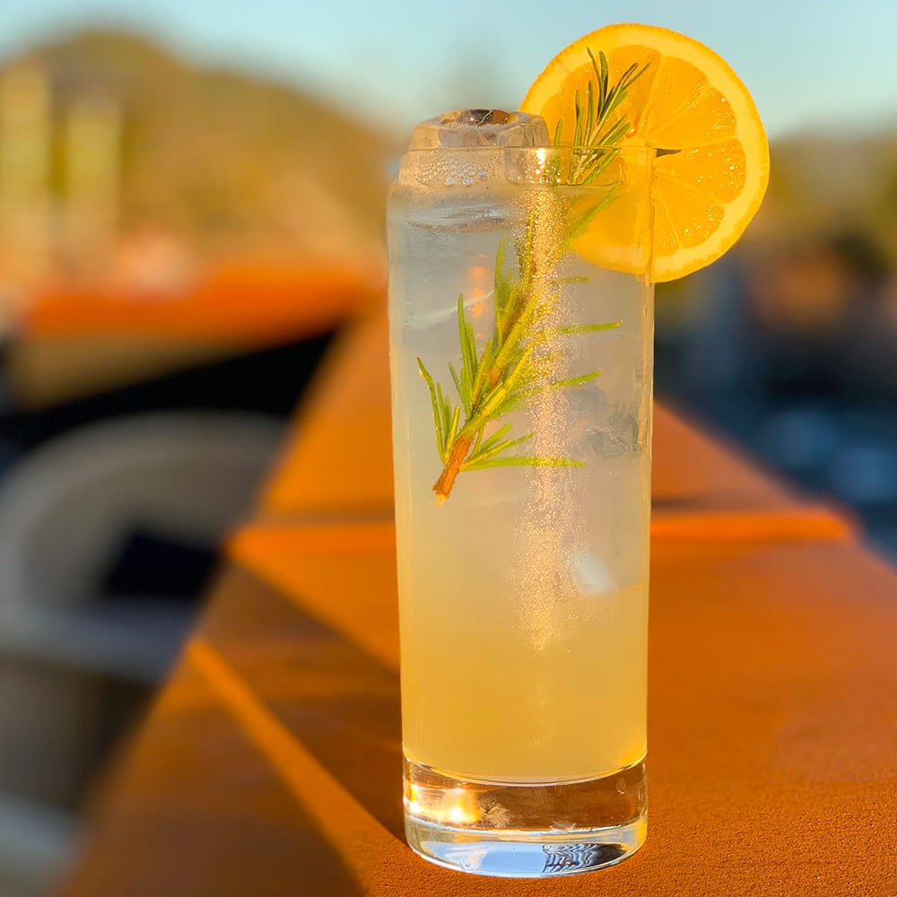 Rosemary Lemon Spritz Rooftop | Harmon Guest House | mocktail recipes