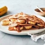T-Minus 30 Recipes -- Banana and Almond Butter Quesadilla