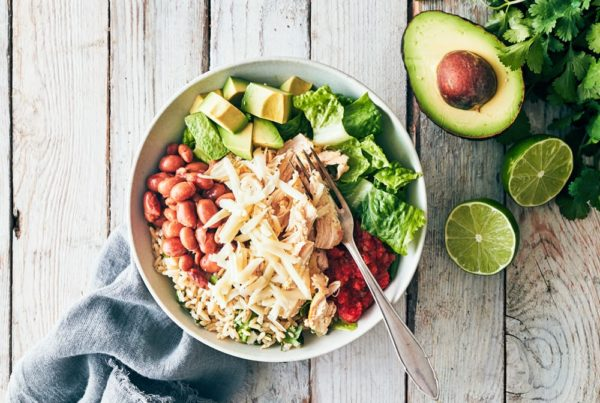 sugar free 3 recipes - Chicken Burrito Bowl  - Chicken Burrito Bowl e1568065416919