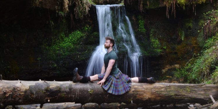 Kilted Yoga: Meet Finlay Wilson, the Scot in a Skirt