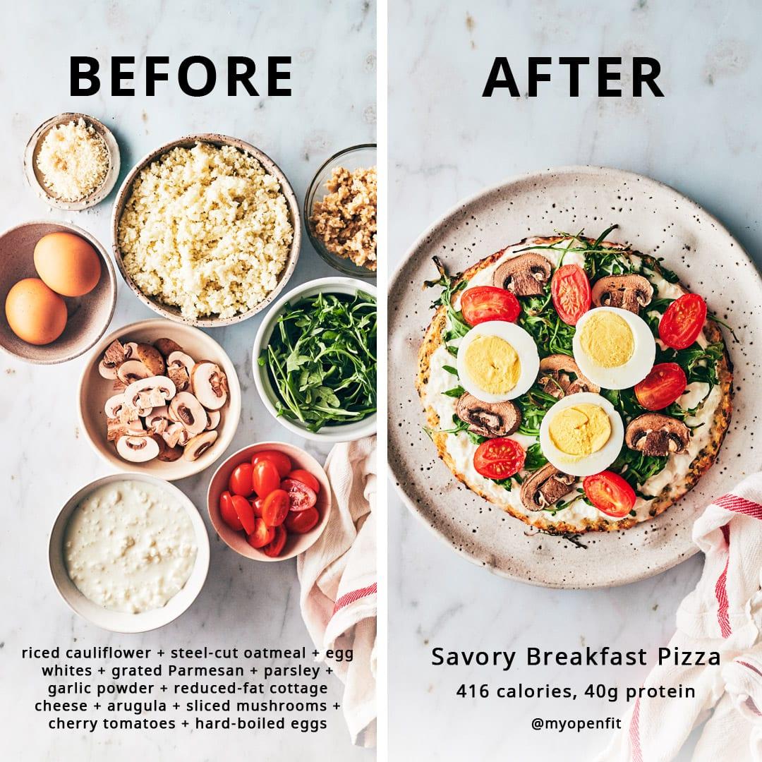 Healthy Breakfast Pizza
