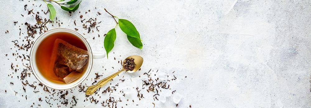 herbal tea overhead - not gluten free