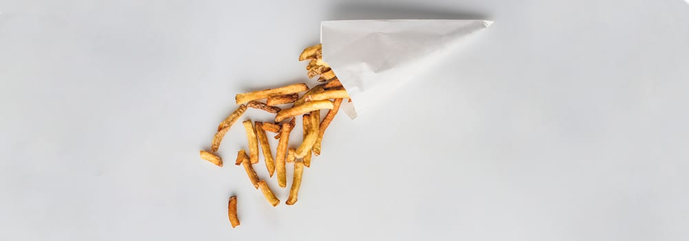 french fries - frites cone - not gluten free