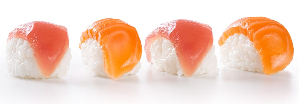 sushi - salmon tuna - not gluten free