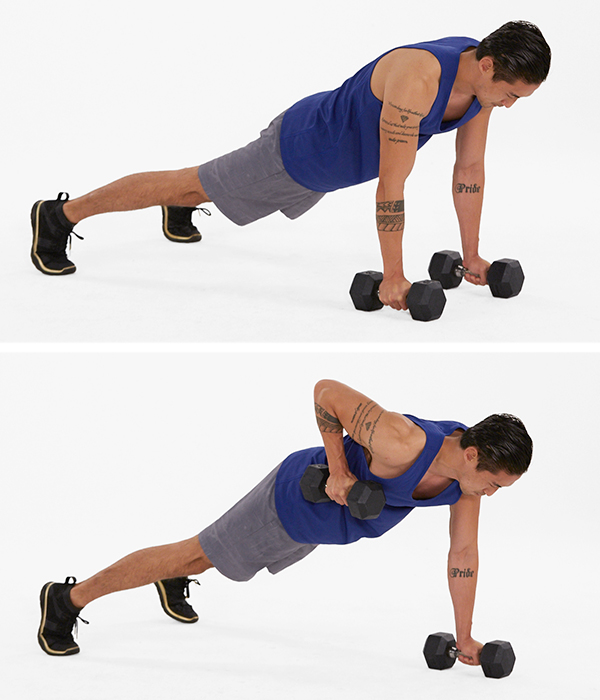 inverted row - renegade row exercise