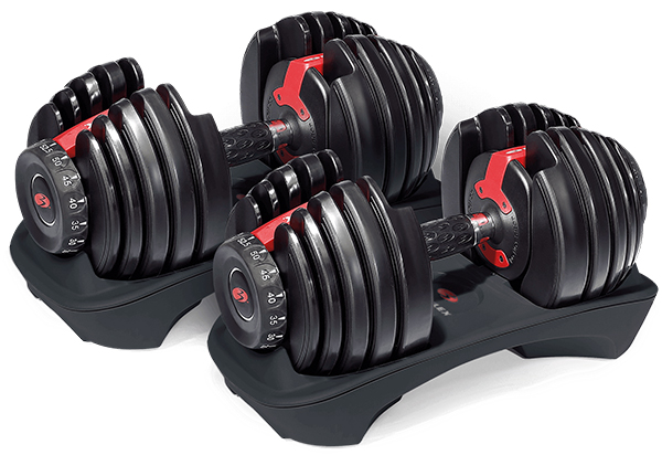 bowflex selecttech 552 dumbbell set - building a home gym
