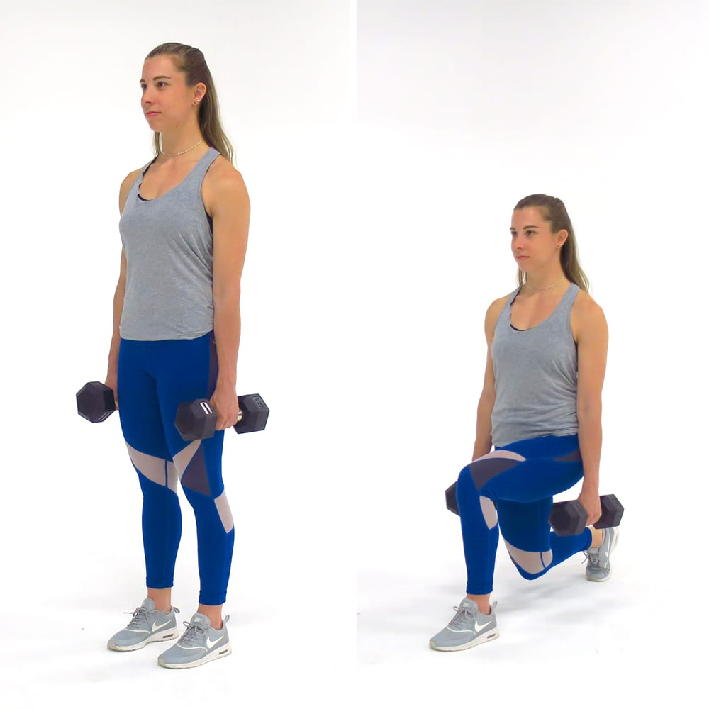 bodyweight exercises for chest - Reverse Lunge