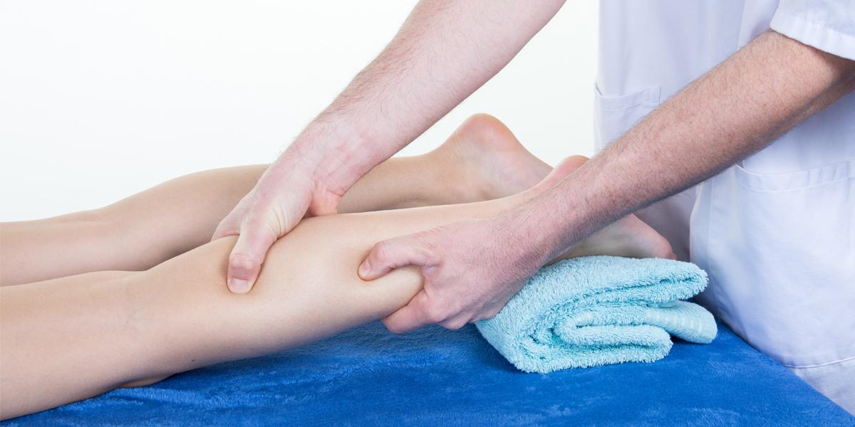 calming techniques - leg massage