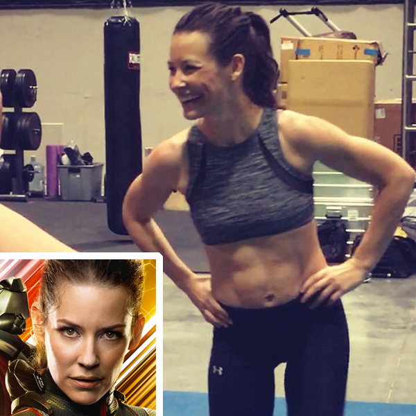 evangeline lilly - workout