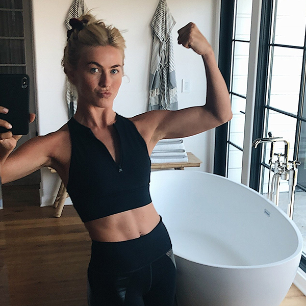 julianne hough - bathroom flex selfie