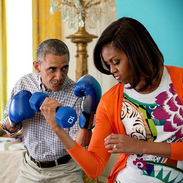 michelle obama - barack obama - flex