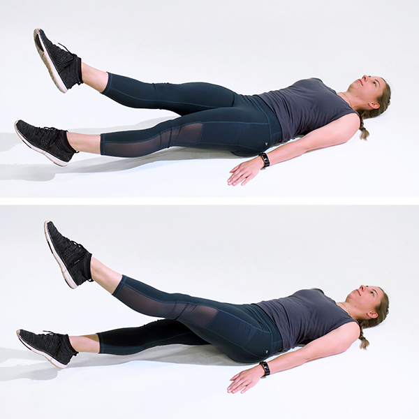 flutter kicks exercise - woman