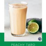 peach taro smoothie