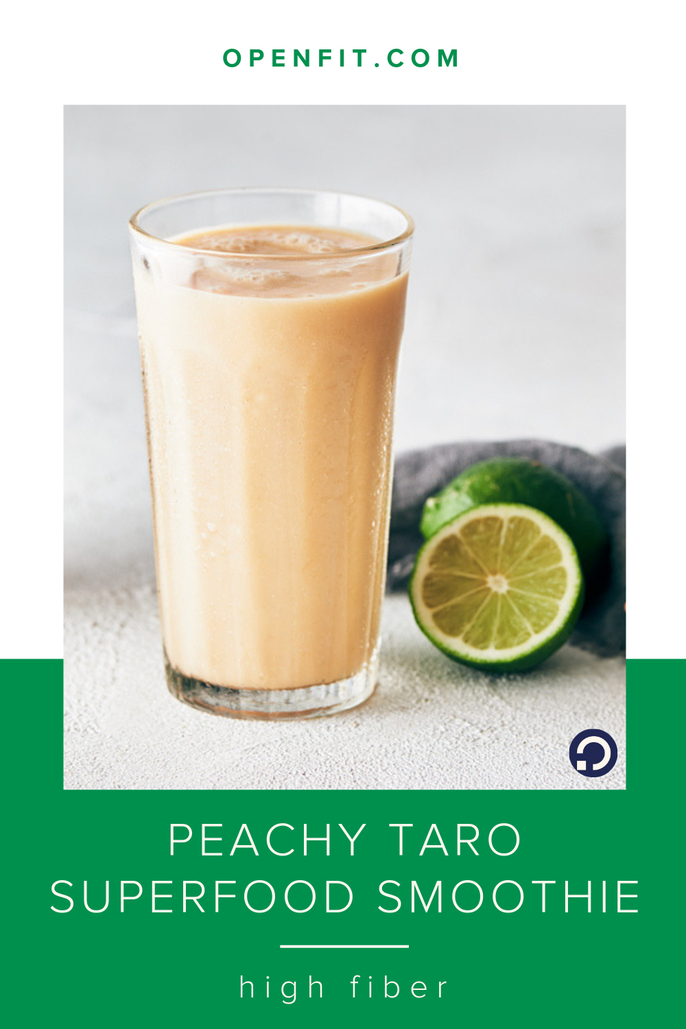 peach taro smoothie