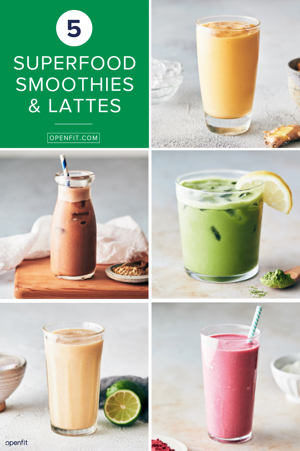 superfood smoothies and lattes