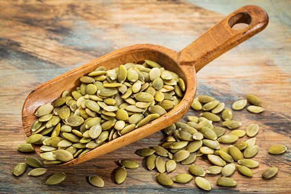 pumpkin seeds - foods high in iron