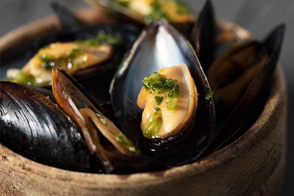 mussels - foods high in zinc