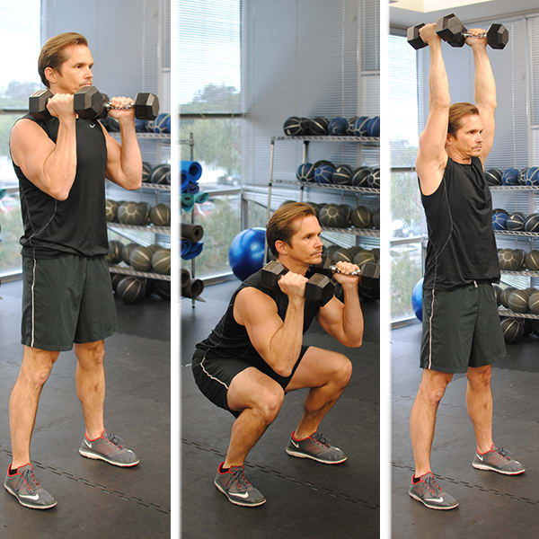best fat burning exercises - squat to press