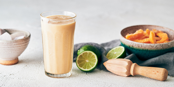 healthy summer recipes - peachy taro smoothie