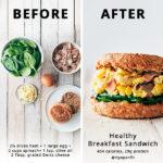 Ham, Egg, and Cheese Breakfast Sandwich