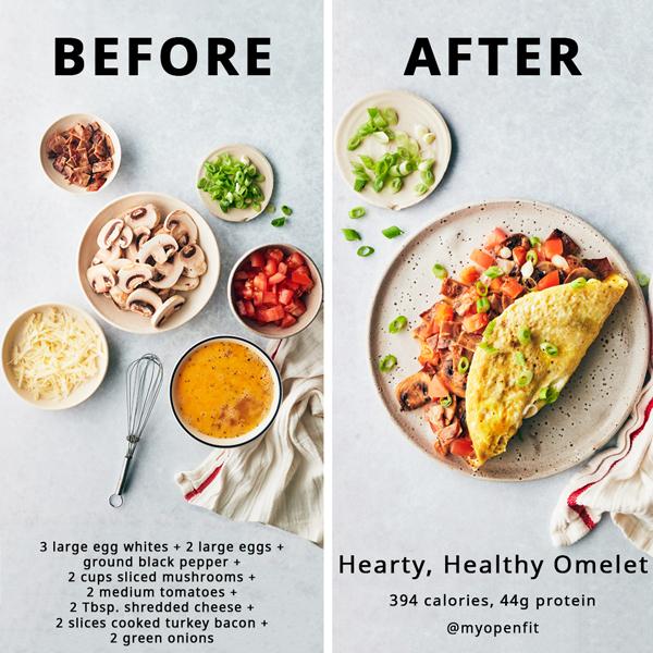 Hearty egg omelet recipe