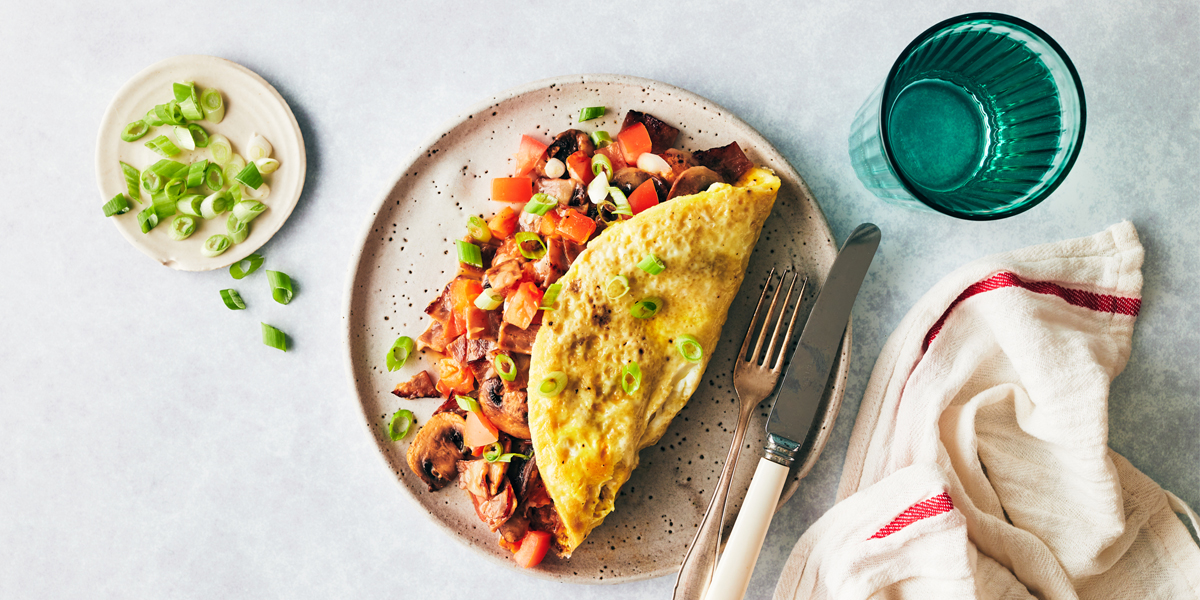 Hearty egg omelet recipe