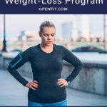 running for weight loss pin