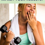 Is Working Out on No Sleep a Good Idea - Woman yawning while lifting weights