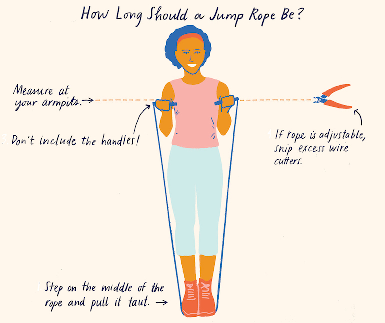 how to measure a jump rope