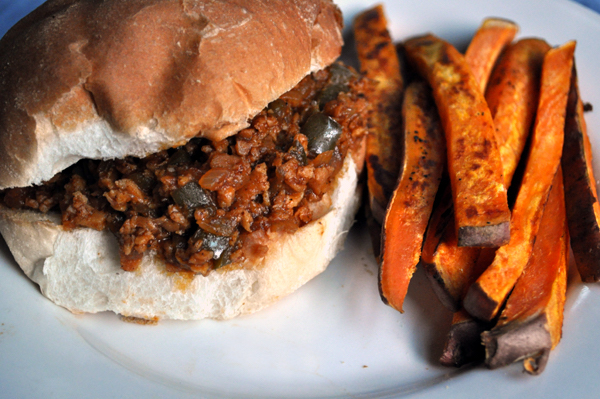 textured vegetable protein- sloppy joes