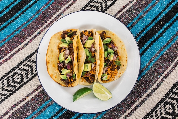 textured vegetable protein- vegan tacos