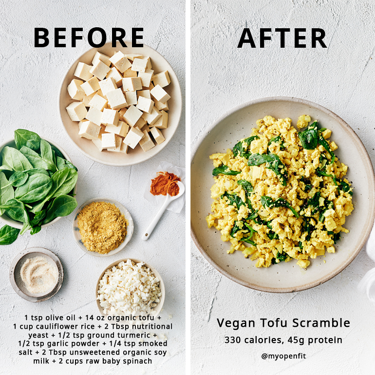 healthy tofu scramble